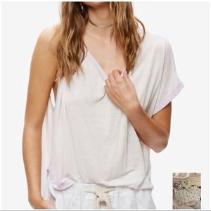 FREE PEOPLE NWT Lavender Boat Neck Pluto Tee